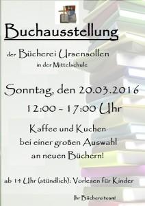 Plakat Buchausstellung 2016